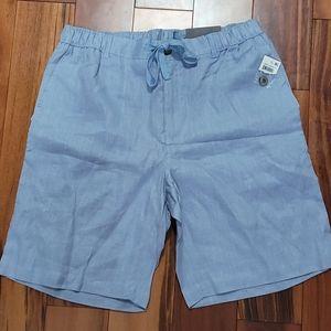 NWT Tasso Elba Linen Drawstring Shorts